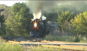 Milwaukee Road 261 Lays Into Curve At High Speed!