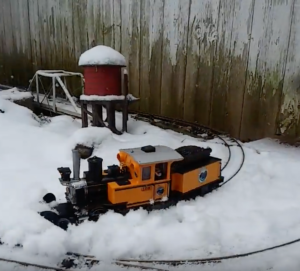 Garden Scale Train Not Afraid Of Snow!