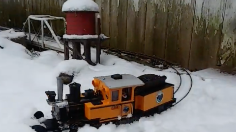 Garden Scale Train Not Afraid Of Snow! | Train Fanatics Videos