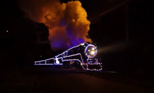 Southern Pacific #4449 All Decked Out For Christmas!