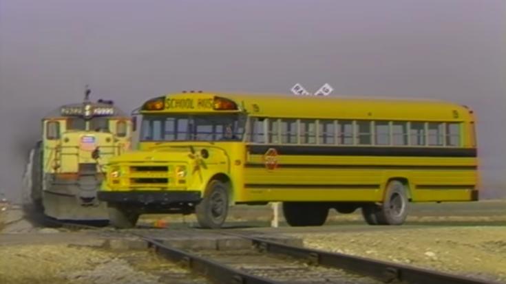 School Bus Vs Train ! | Train Fanatics Videos