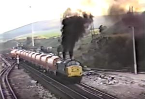 Deltic Class 37 Burns A Little Rich!