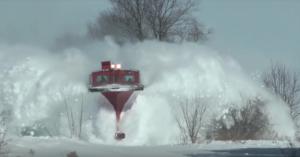 FP9's Plowing Snow