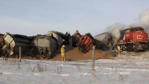 Saskatoon CN Freight Derailment! | Train Fanatics Videos