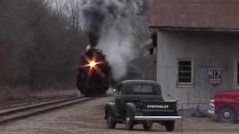 Pere Marquette #1225 Hi Balls In Winter! | Train Fanatics Videos