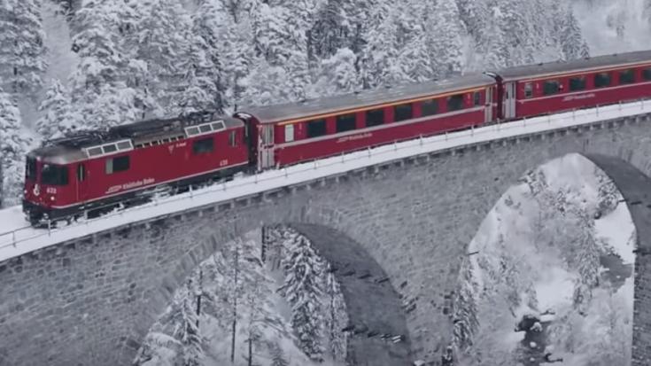 Winter Wonderland – The Glacier Express! | Train Fanatics Videos