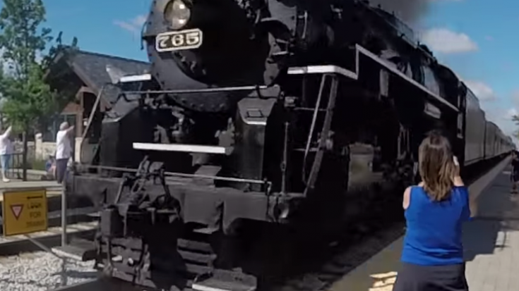 NKP 765 Runby At 70 MPH! | Train Fanatics Videos