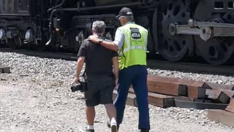 Big Boy Engineer Scolds Railfan! | Train Fanatics Videos