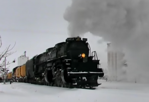 Big Boy #4014 In Kansas Snow