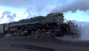 Big Boy #4014 And UP #844 Building Up A Head Of Steam