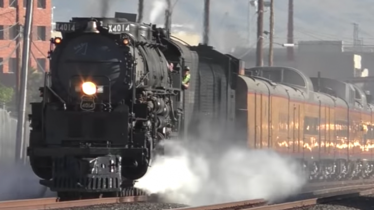 Big Boy #4014 Leaving Las Vegas | Train Fanatics Videos