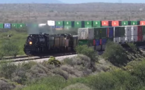Big Boy #4014 Meets UP Intermodal