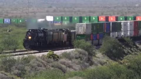 Big Boy #4014 Meets UP Intermodal | Train Fanatics Videos