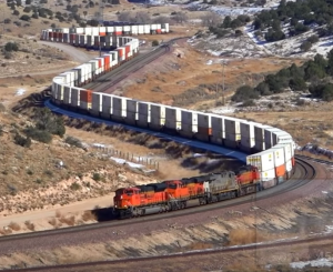 BNSF Snaking Up The Canyon