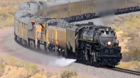 Big Boy #4014 Over And Under | Train Fanatics Videos