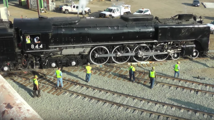 UP 844 Steaming Out On Double Diamonds | Train Fanatics Videos