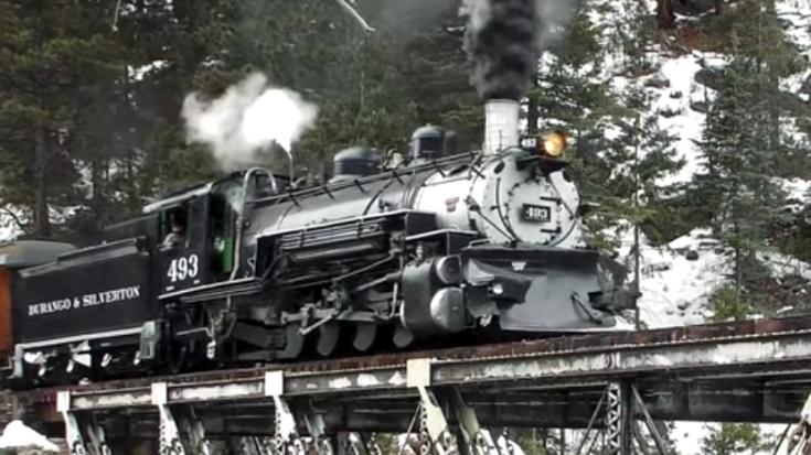 Durango & Silverton #493   Train Fanatics Videos