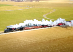 Strasburg Railroad From Above