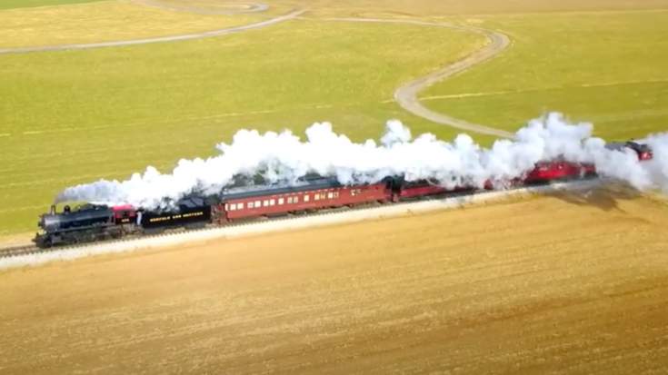Strasburg Railroad From Above | Train Fanatics Videos