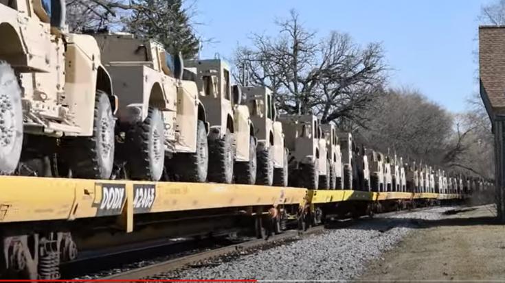 Military Move – Humvee's | Train Fanatics Videos