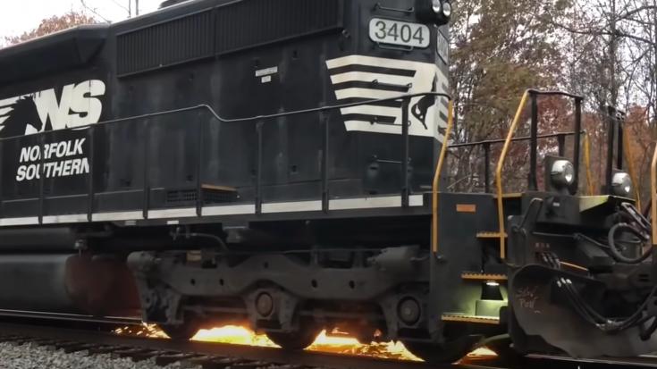 Norfolk Southern Diesel Wheel Slipping | Train Fanatics Videos