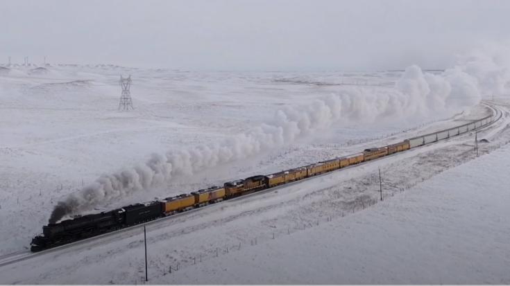 Big Boy #4014 From Above | Train Fanatics Videos