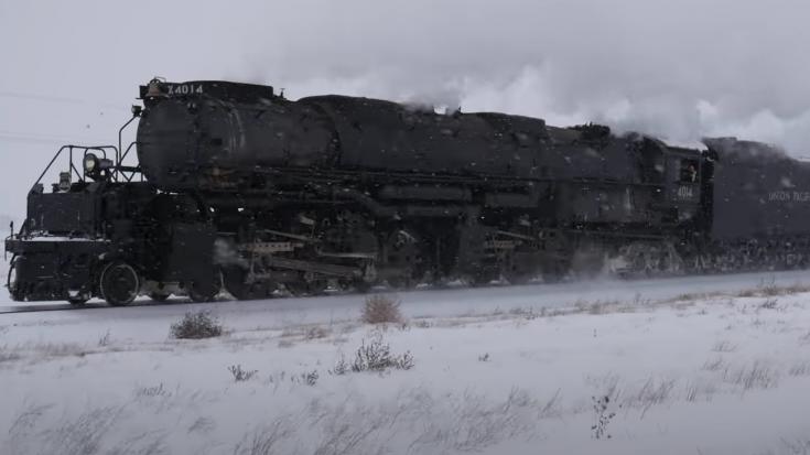 Pacing Big Boy #4014 Revenue Run In Winter   Train Fanatics Videos