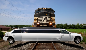 10,000 Ton NS Freight Slams Into Limo
