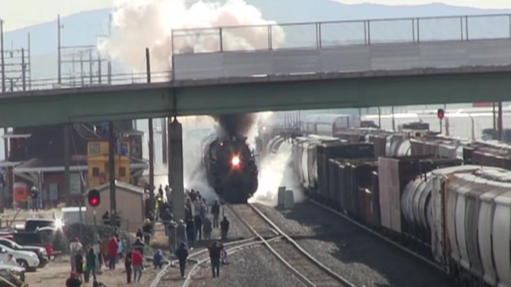 Big Boy 4014 & UP 844 Short Run To Rock Springs | Train Fanatics Videos