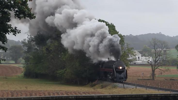 J 611 Vists The Strasburg Railroad   Train Fanatics Videos