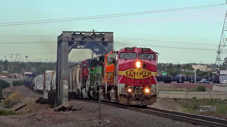 BNSF Colorful Lash Up In Phoenix | Train Fanatics Videos
