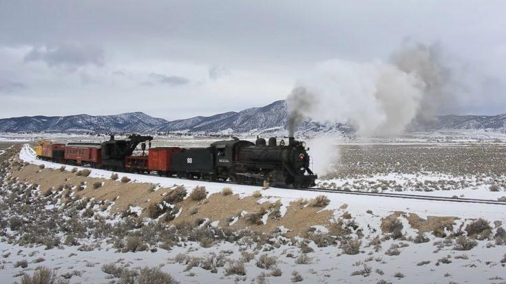 Nevada Northern's #93 In Winter | Train Fanatics Videos