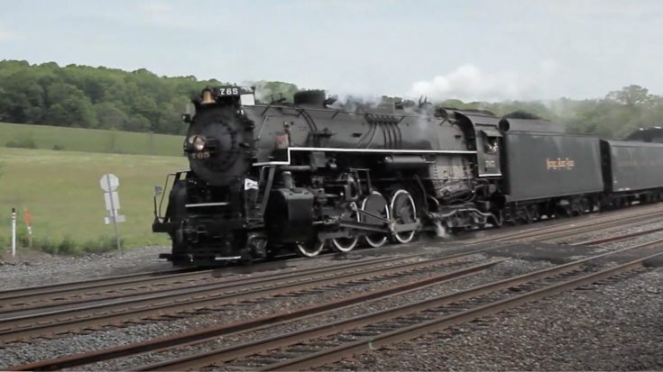 NKP 765 On The Horseshoe Curve | Train Fanatics Videos