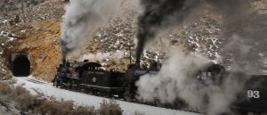 Nevada Northern Railway In Winter