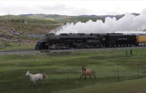 Two Iron Horses Versus Two Horses