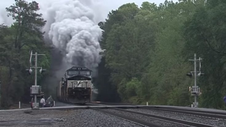 Norfolk Southern Diesel Surprise ! | Train Fanatics Videos
