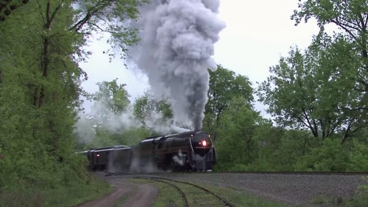 N&W J611 4-8-4 Power Start | Train Fanatics Videos