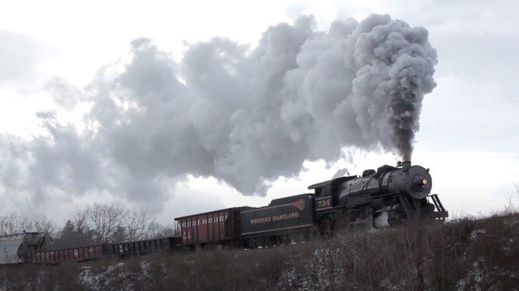 Western Maryland's #734 Winter Journey | Train Fanatics Videos