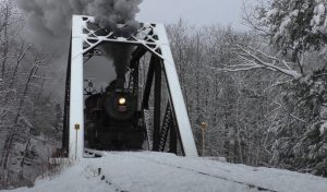 Conway Scenic Railroad's #7470 In Winter