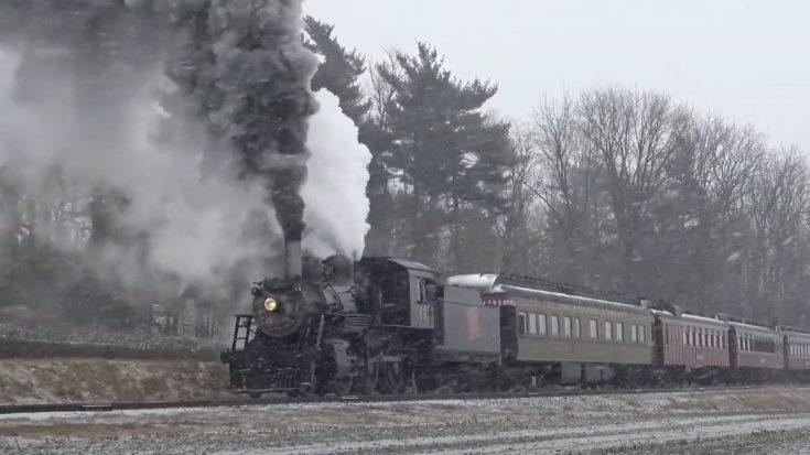Strasburg Railroad #89 Snow Journey   Train Fanatics Videos