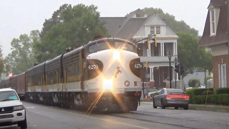 NS Executive F9A Street Running Augusta | Train Fanatics Videos