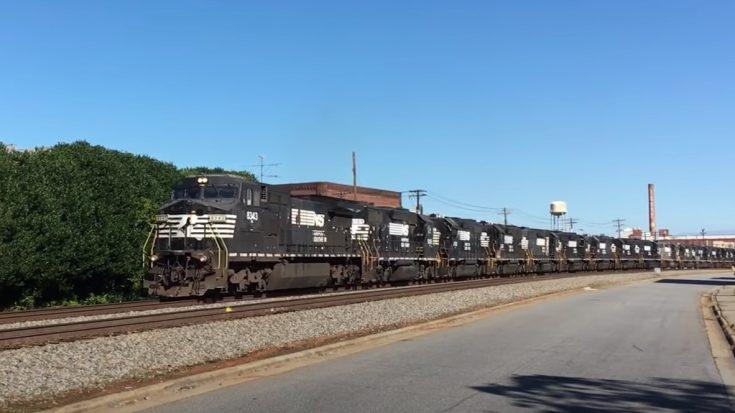 Norfolk Southern Funeral Move | Train Fanatics Videos