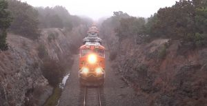 BNSF #6666 Leads 30 Unit Funeral Train