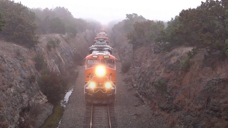 BNSF #6666 Leads 30 Unit Funeral Train   Train Fanatics Videos
