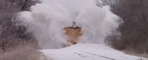 Canadian National Wedge Plow In Action