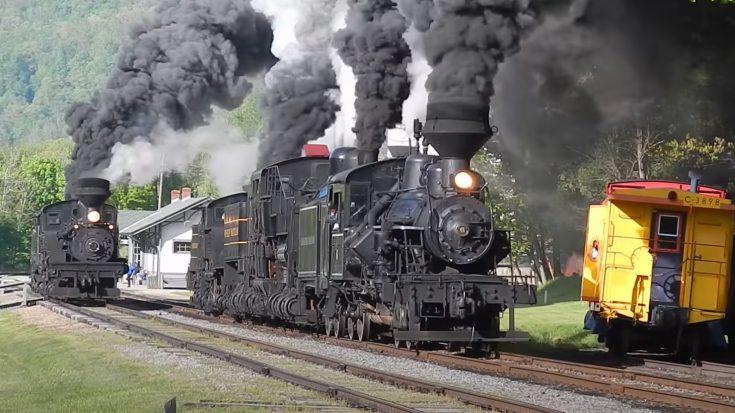 "Triple Shay "" Sidewinders"" Plus One Heisler | Train Fanatics Videos"