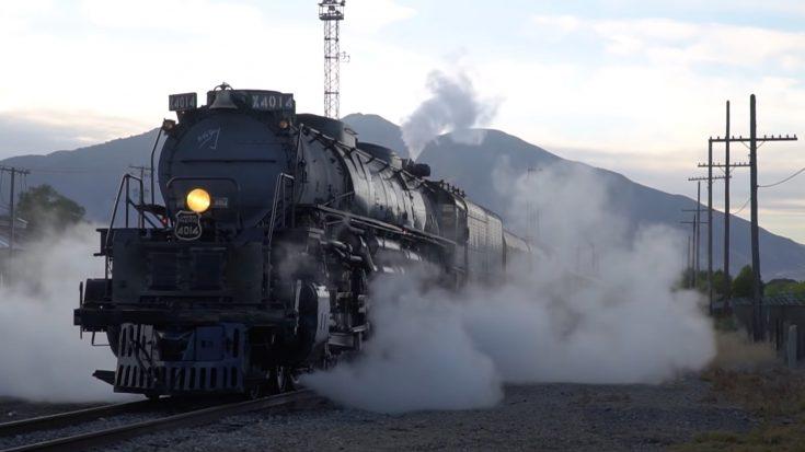 Big Boy 4014 Builds Up Head Of Steam | Train Fanatics Videos