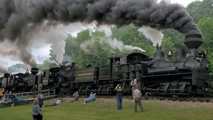 Cass Scenic Railroad Sidewinders   Train Fanatics Videos