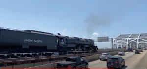 Big Boy #4014 On The Huey P Long Bridge