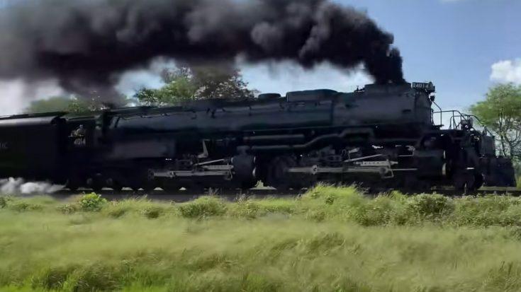 UP  Big Boy #4014 Gets The High Ball Signal   Train Fanatics Videos
